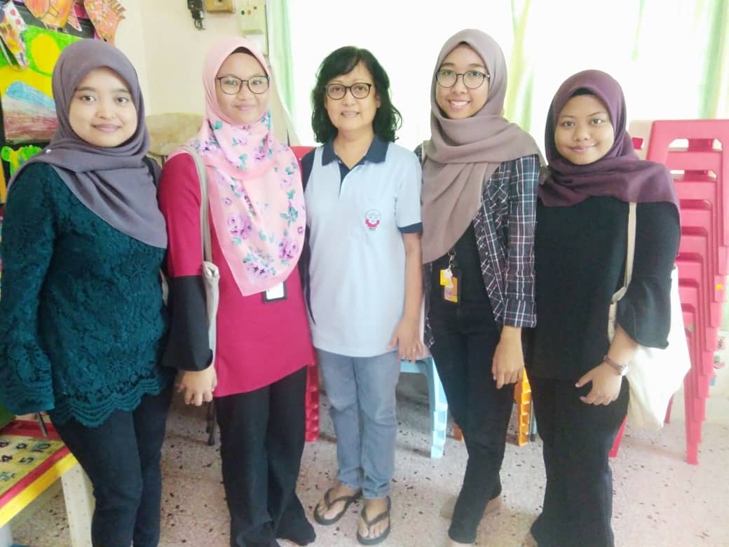 UiTM Segamat Students came to do final year research on autism at REACH Segamat.